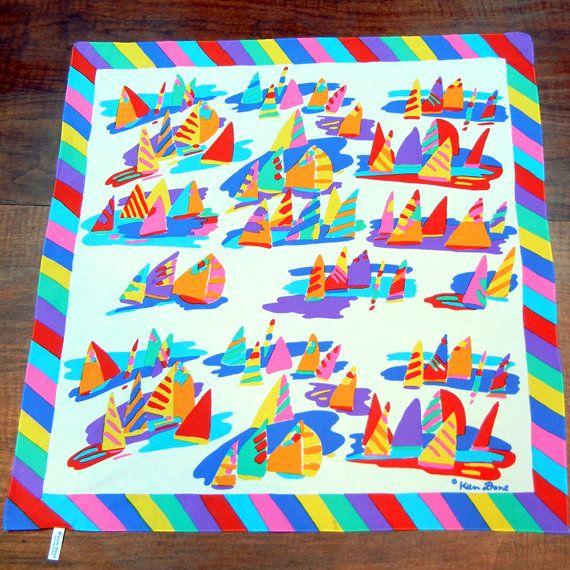 Ken Done Scarf sail boats