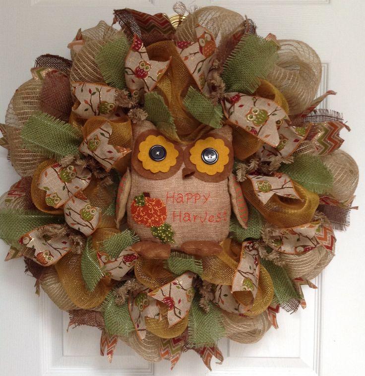 1000 ideas about owl wreaths on pinterest wreaths mesh