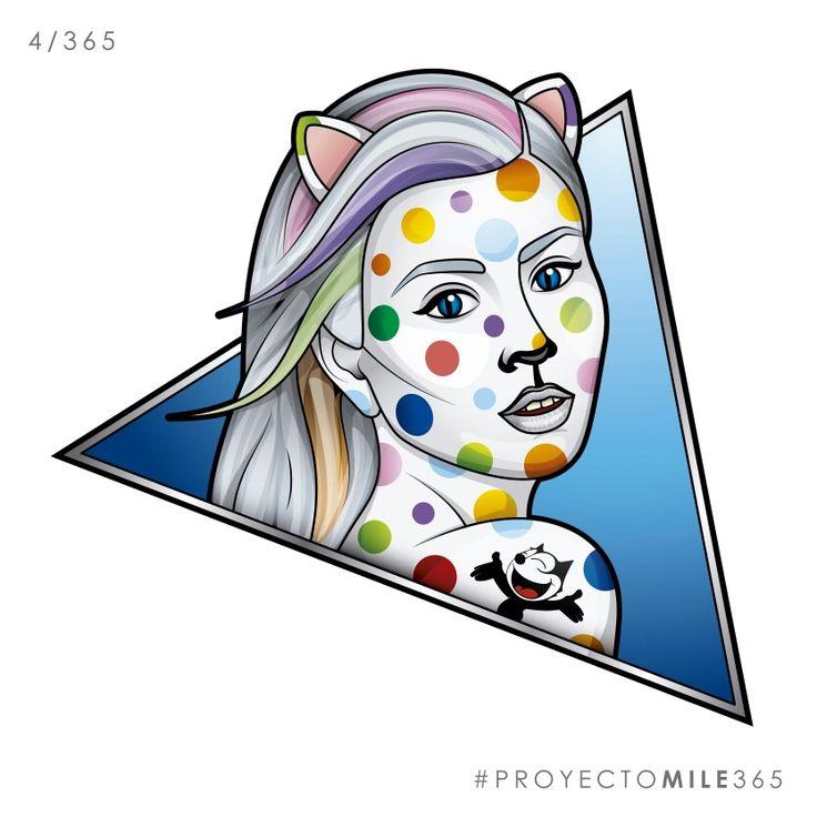 Ilustracion de las novias del gato #ilustracion #illustration #vector