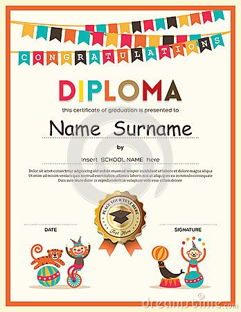 The 25 best graduation certificate template ideas on pinterest preschool elementary school kids diploma certificate background yadclub