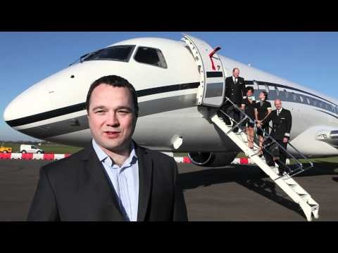 Hangar8's Embraer Lineage 1000 lands at London Oxford Airport