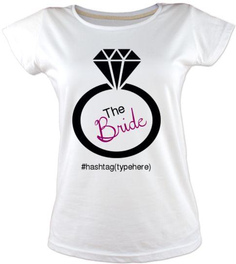 The Bride in the Ring - Bekarlığa Veda Kişiselleştirilebilir renk, desen, yazı seçenekleriyle bekarlığa veda parti tişörtü fikirleri