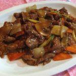 Ternera con salsa de ostras estilo chino