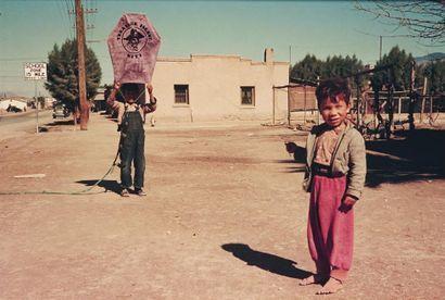 Flying a kite, Main Street, Tucson, AZ (1940).