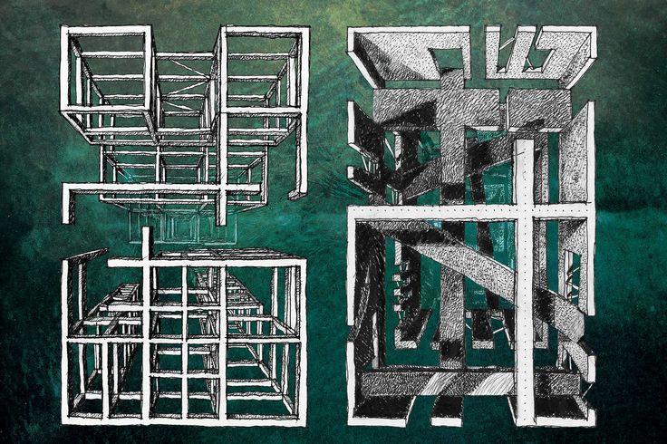 53 best architettura disegnata images on pinterest for Architettura disegnata