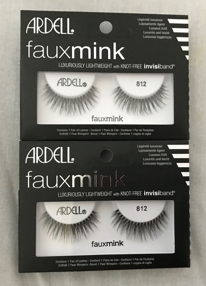 527346c816e 2 pair Ardell Faux Mink False Eyelashes #812 BLACK 74764663115 | eBay |  Beauty tips | Black lashes, Beauty hacks, Black