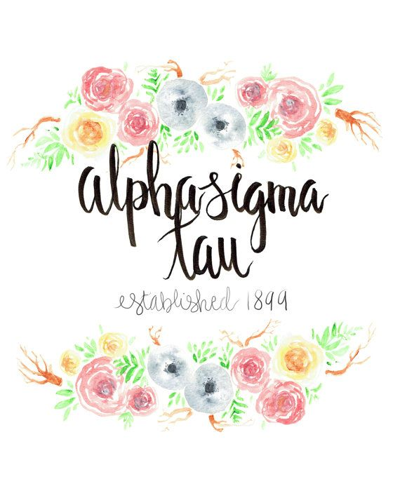 Alpha Sigma Tau Big/Little Gift Floral Art by artworkbydanika