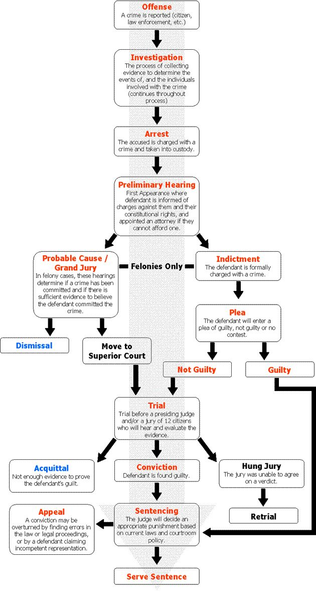 Criminal Court System Court Process Flow Chart