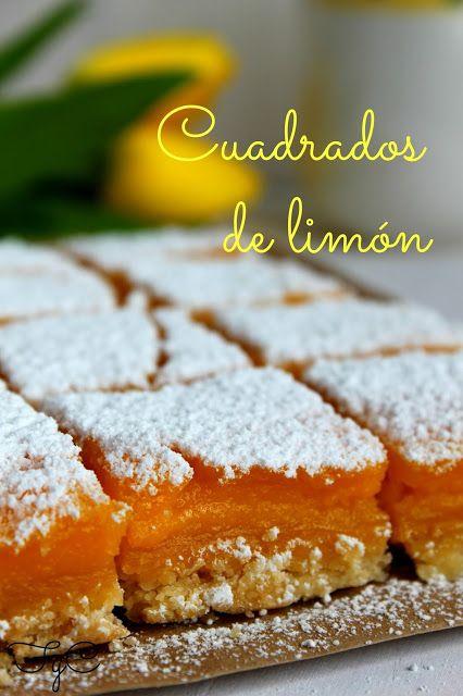 pastelitos de limón, ñam! http://frambuesaycaramelo.blogspot.com.es/2013/06/cuadrados-de-limon-lemon-bars.html?showComment=1371109411491#c6612365545112898756