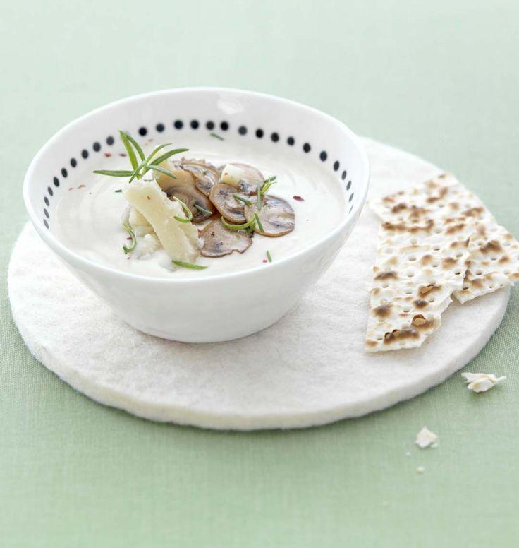 Crème d'artichauts et champignons frais - les meilleures recettes de cuisine d'Ôdélices