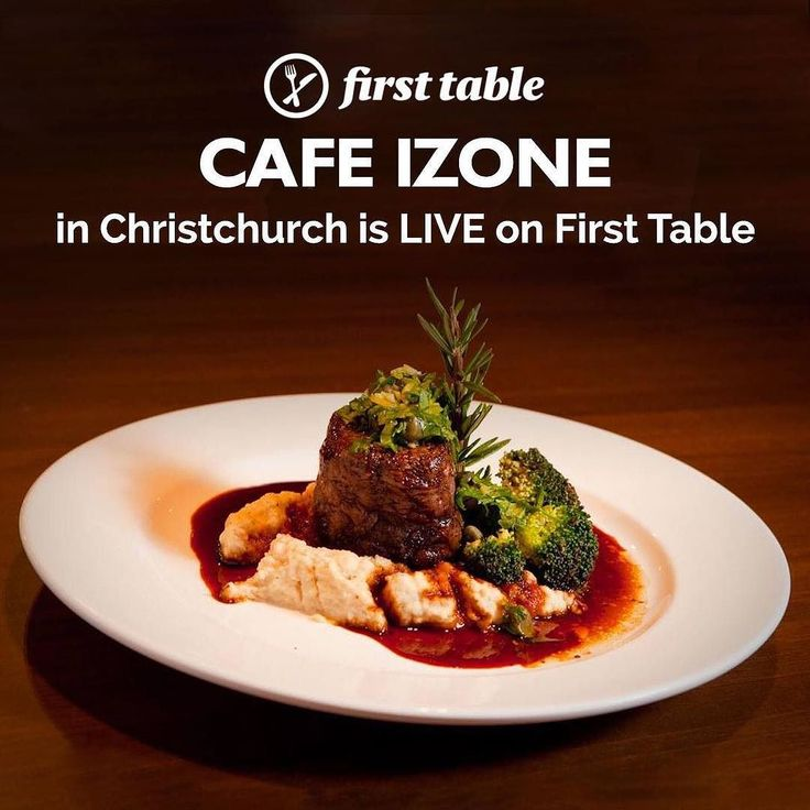 Cafe by day stonegrill by night  . . . Book the #firsttable for #CafeIzone in #Christchurch and you'll get 50% off the food bill for 2 to 4 diners . . . . Café by day and stone grill and à la carte restaurant by night Café Izone boasts good old fashioned Kiwi hospitality.  The stone grill plate selection includes New Zealand venison beef and seasonal vegetables. Dishes are served with your choice of two sides; choose from slaw fries vegetables and more. Lighter options include Izones famous…