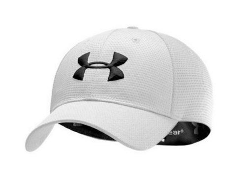 under armor youth baseball hats armour cap uk team men blitzing stretch fit hat medium large white black