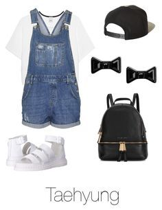 Summer nights with Tae by bts-outfit-imagines on Polyvore featuring polyvore fashion style Pinko Topshop Dr. Martens Michael Kors Marc by Marc Jacobs Brixton clothing