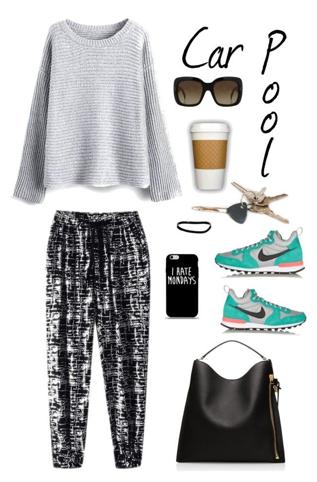 """""""Car Pool"""" by youaresofashion ❤ liked on Polyvore featuring NIKE, Alix, ASOS, CÉLINE, women's clothing, women, female, woman, misses and juniors"""