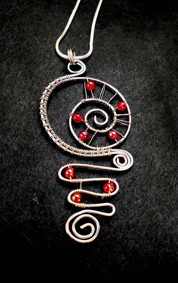 wire - bead pendant