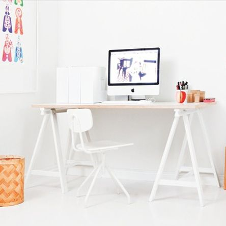 Diy trestle desk beautiful offices and desk ideas for Diy study table design