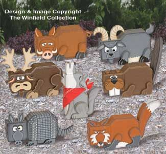 Wild Animal Patio Paver Pals Pattern Set Everyone will love these adorable wild animals with fun personalities! #diy #woodcraftpatterns