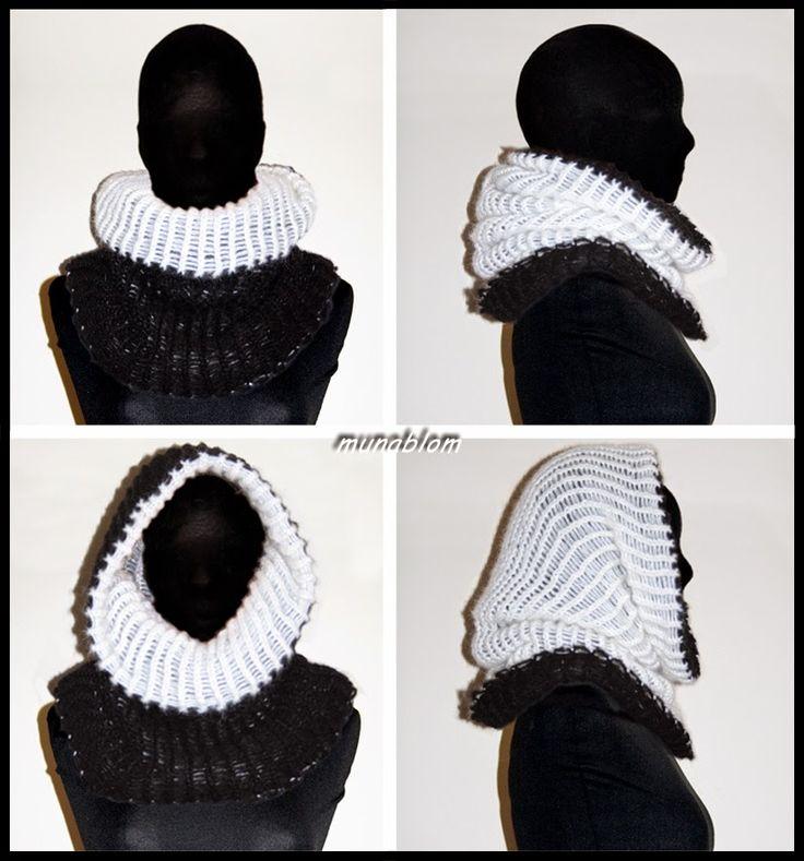 Prassede 03: Cachecol in mohaire double-face tessuto con telaio manuale.