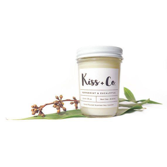 Soy Candle Peppermint & Eucalyptus 8oz