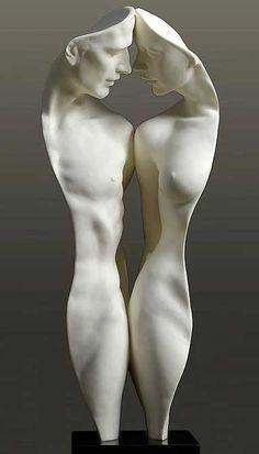 """""""We two"""" - Parian II sculpture by Gaylord Ho. More at http://www.piccadillys.com/gaylord/sculptures.html (Thx Victorius)"""
