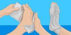 Enroulez du papier alu autour de votre pied et attendez 1 heure. Vous serez…