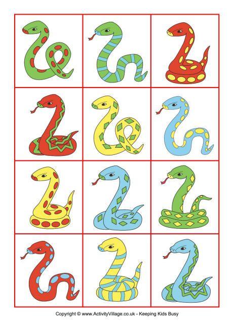 Snake sorting cards