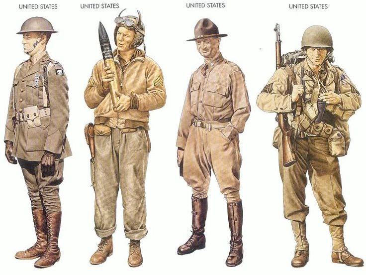 World War II Uniforms -United States – 1942 Jan., Iceland ...