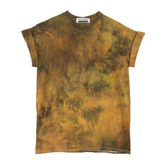 Rust Tie Dye T-Shirt < UNISEX SIZE >  Psychedelic Festival Mens Shirt, Bohemian Festival Style Shirt, Burning Man Hippie Festival Shirt