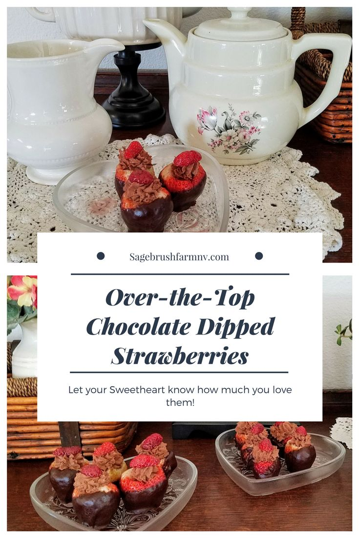Chocolate Mousse filled, Chocolate Dipped Strawberries for the win! via @sagebrushfarmnv