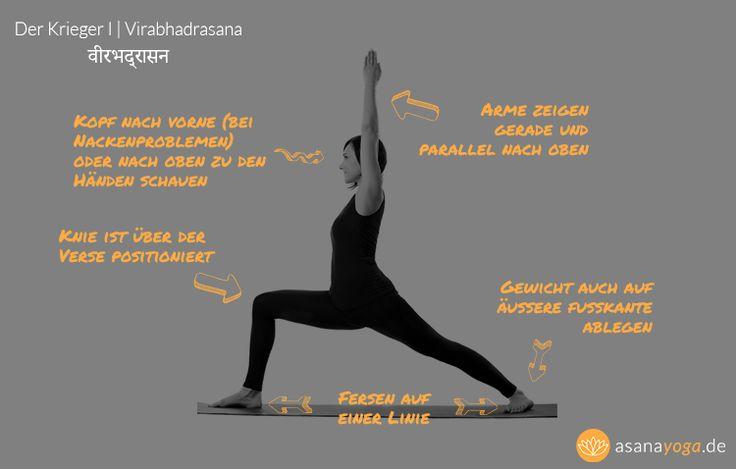 Virabhadrasana 1 (Yoga Krieger 1) ist eine stehende Asana, die hier beschrieben ist.