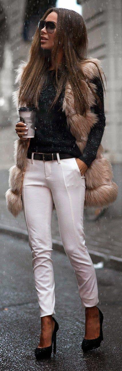 - Faux Furry Oversized Vest
