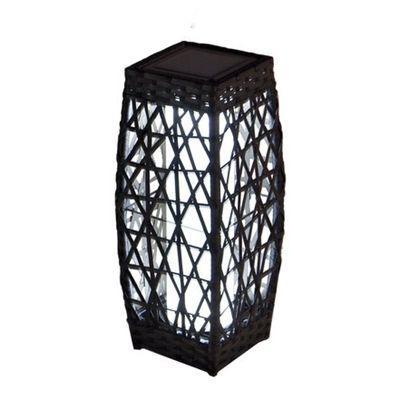 allen + roth 18-in Savona Brown Outdoor Solar LED Lantern