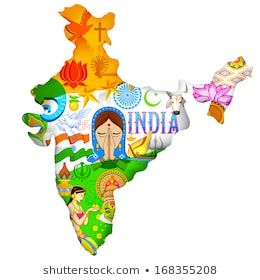 Illustration Of Indian Map Showing Culture India Diversity Poster Essay On And Tradition