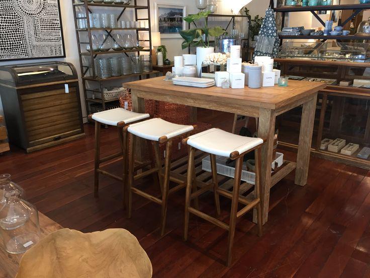 Art work and bar stools
