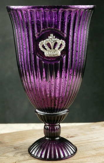 purple mercury glass with Crown