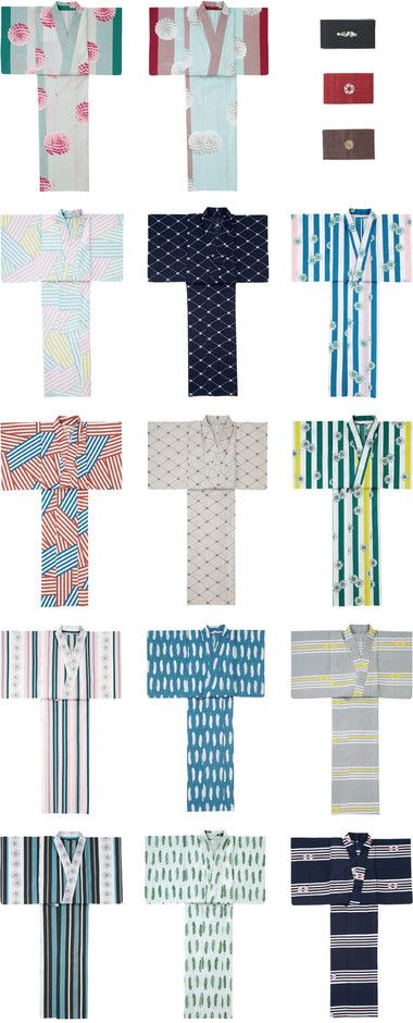 Yukata - informal cotton kimono (for summer wear)