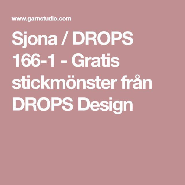 Sjona / DROPS 166-1 - Gratis stickmönster från DROPS Design