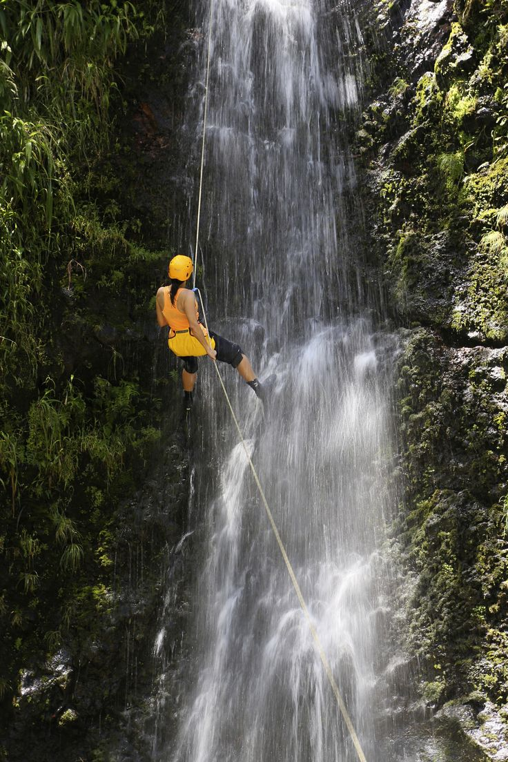 Seriously, the most exhilarating day of my life! Went on an adventure climbing down waterfalls with Rappel Maui.