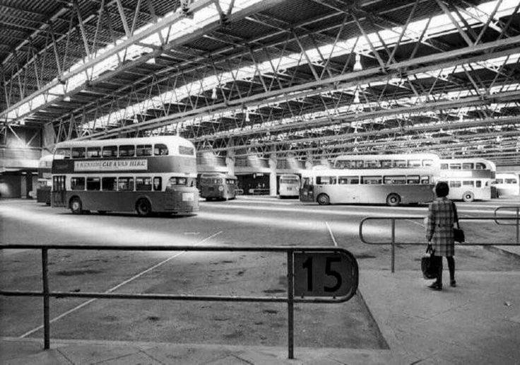 Victoria Bus Station, Nottingham, 1970s.