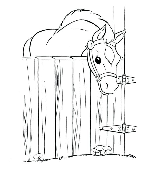 Image Result For Horse Barn Coloring Pages Horse Coloring Pages Horse Coloring Horse Coloring Books