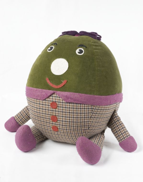 Humpty from 1970s BBC TV kids' show Playschool.  http://www.nationalmediamuseum.org.uk/Collection/Television/TelevisionIndustry/CollectionItem.aspx?id=2008-5093/4