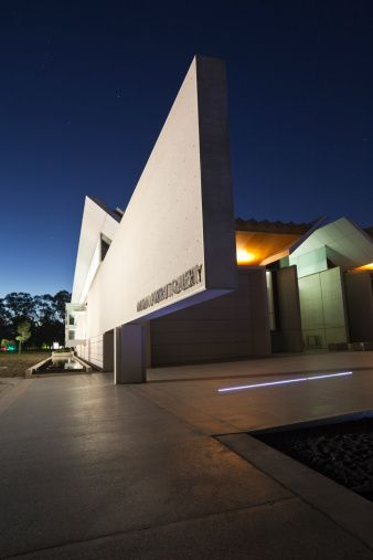 National Portrait Gallery at twilight. Canberra.