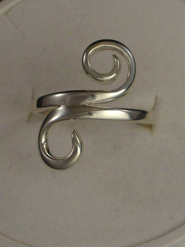"Sterling Silver swirl ring, One Off  Size ""M"" $ 80 www.carellajewellers.com"