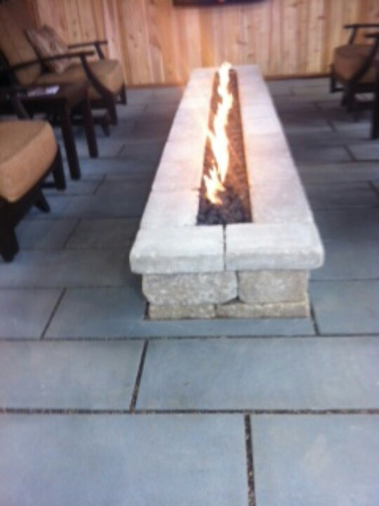 9 best images about fire pit on pinterest fire pits for Rectangular stone fire pit