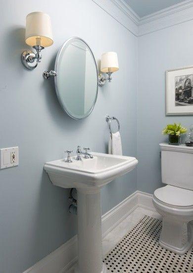 17 best images about powder room on pinterest small half baths round mirrors and vanities - Interior design bathroom colors ...