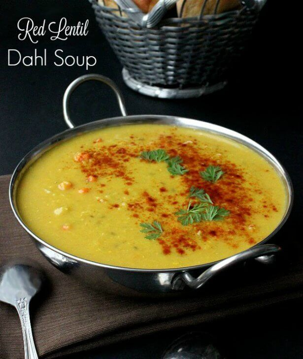 Red Lentil Dahl Soup is easy to make but has a couple of unusual steps to complete this flavorful and satisfying soup.