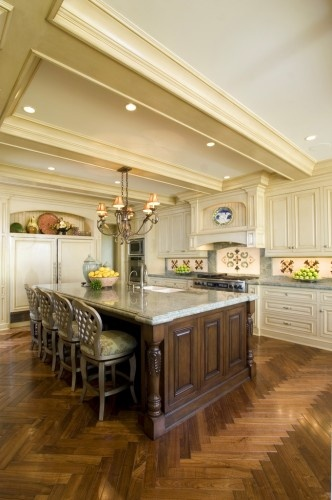 traditional kitchen by Spinnaker DevelopmentFloors Pattern, Kitchens Design, Traditional Kitchens, Orange County, Dark Wood, Kitchens Islands, Design Firm, Floors Design, Kitchens Photos