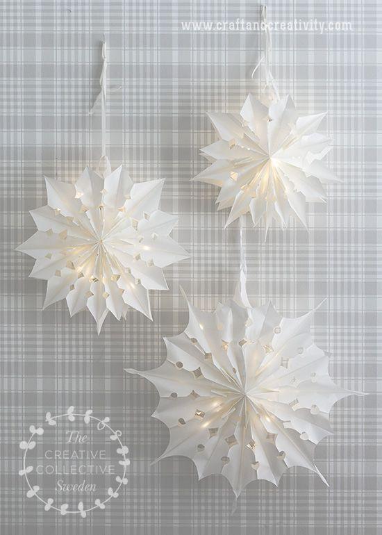 paper bag christmas stars by craft creativity - Fantastisch Schlsselanhnger Selber Machen