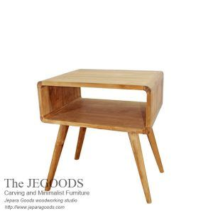 We produce #retro furniture made of teak Indonesia, best hand made construction. Jepara Goods teak retro side table #scandinaviandesign drawer at low price Usd.58.