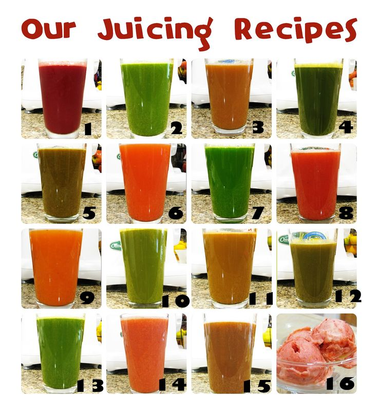 All My Juice Fast Recipes! Healthy and just fruits and vegetables!